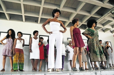 Contestants in the natural hair competition in Havana last week.